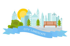 Website Banner and Landing Page City Landscape Royalty Free Stock Photography