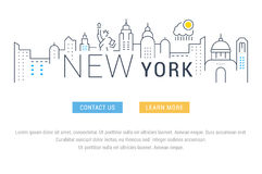 Website Banner and Landing Page New York Stock Photography