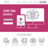 Website Banner and Landing Page Startup Stock Photography