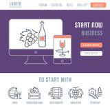 Website Banner and Landing Page Startup Stock Photo