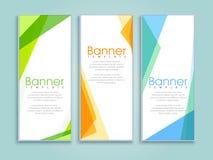 Website banner set. Stock Images