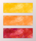 Website banner template set abstract triangle polygon background design Royalty Free Stock Photography