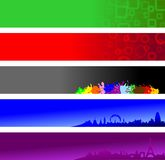 Website banners. Set of colorful banners applicable as website headers Royalty Free Stock Photo