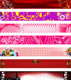 Website banners. 730x90 sizes. Royalty Free Stock Images