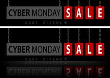 Website Banners Cyber Monday Royalty Free Stock Image