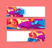Website banners with space left for message.  vector illustratio. N Royalty Free Stock Photos