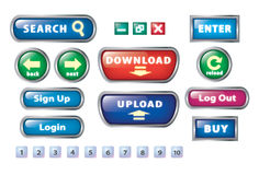 Website basic button set stock illustration