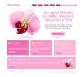 Website for beauties Stock Image