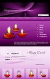 Website Beautiful stylish happy diwali template co Royalty Free Stock Photos