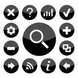 Website black icons set great for any use. Vector EPS10. Stock Photography