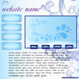 Website in blue Royalty Free Stock Images