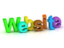 Website bright colour letters Royalty Free Stock Photography