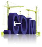 Website building .com web under construction Royalty Free Stock Photo