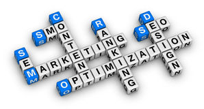Website building and marketing Royalty Free Stock Image