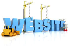 Website building , under construction or repair. Isolated on a white background