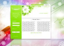 Website business template. Green website business template easy to edit Royalty Free Stock Images