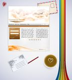 Website business template. Green website business template easy to edit Royalty Free Stock Photography