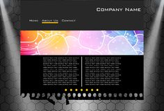 Website business template. Carbon website business template easy to edit Stock Photos