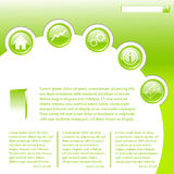 Website business template in green. Clip-art Royalty Free Stock Image