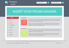 Website business template layout with text Stock Photography