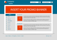 Website business template layout with text. Website business style template layout with text Stock Photography