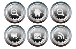 Website button Royalty Free Stock Photo