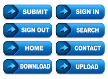Website Buttons Stock Images