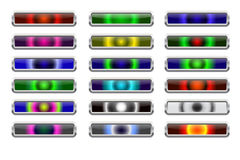 Website buttons. Colored website buttons for web shops Stock Image