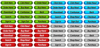 Website Buttons Stock Photos