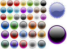 Website buttons. Colored website buttons for web shops Royalty Free Stock Photos