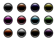 Website buttons. Colored website buttons for web shops Royalty Free Stock Images