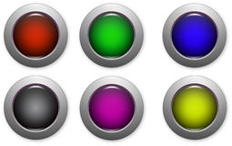 Website buttons. Colored website buttons for web shops Royalty Free Stock Photo