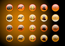Website buttons. Colored website buttons for web shops, halloween theme Royalty Free Stock Photo