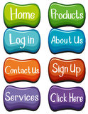 Website buttons design with words Stock Photo