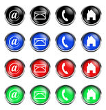 Website buttons isolated Royalty Free Stock Images