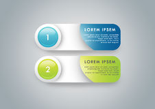 Website buttons. Photoshop generated green and blue website buttons Royalty Free Stock Image