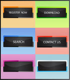 Website Buttons. Set of web buttons in different color variations Stock Photo