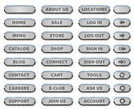 Website Buttons and Steel Icons Royalty Free Stock Image