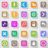 Website buttons and symbols set Stock Image