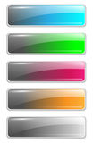 Website buttons template. Website colorful buttons vector set, template Royalty Free Stock Photography