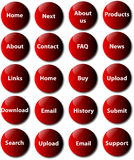 Website buttons - vector Stock Photo