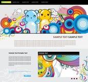 Website  cartoon characters Stock Photography