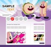 Website  cartoon characters Stock Images