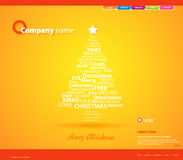 Website Christmas template. Stock Photo