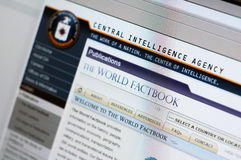 Website of CIA - main internet page Royalty Free Stock Photography