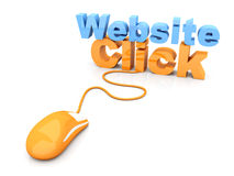 Website click Stock Photo