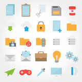 Website and computer flat design icon Royalty Free Stock Photos