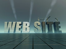 Website construction Stock Image