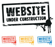 Website construction Royalty Free Stock Photography