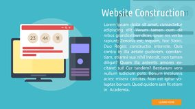 Website Construction Conceptual Banner. Set of great flat design illustration concepts for web, maintenance, internet, network and much more Stock Image
